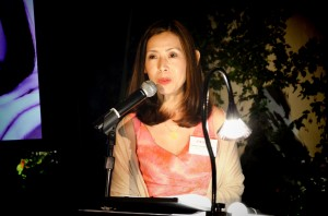 Tomoko Yamagishi, SVP of Marketing speaking