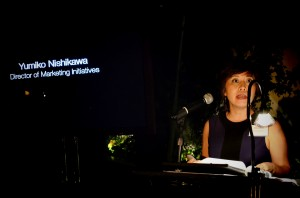 Yumiko Nishikawa, Director of Marketing speaking